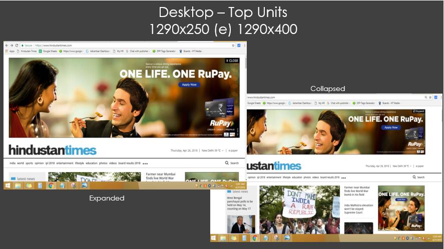Hindustan Times, Website - Banner Advertising - Option 1