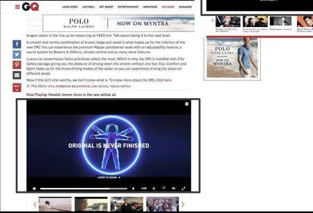 Vogue, Website - Video Advertising Option 1
