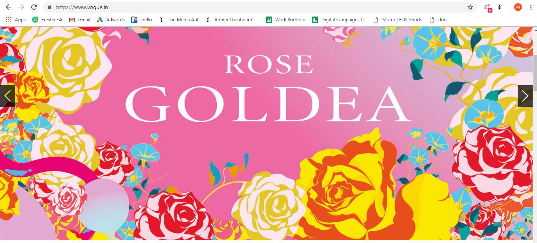 Vogue, Website - RoadBlock Advertising