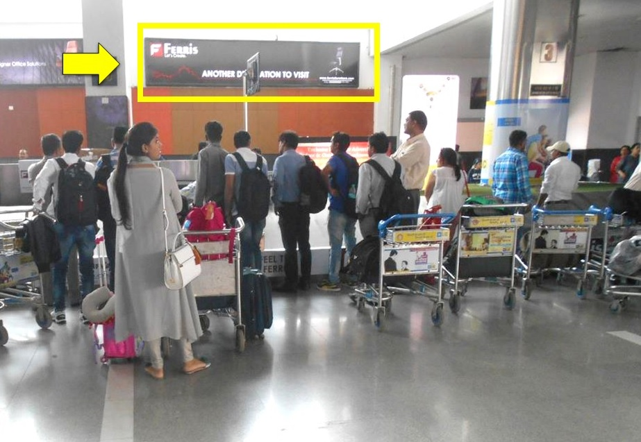 Lucknow Airport-Arrival Area  Advertising-Conveyor Belt Area - 20 x 4 ft - Panel - Side Of Conveyor Belt No.3