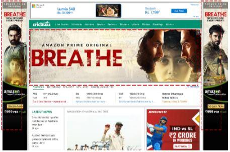 Cricbuzz, Website - RoadBlock Advertising Option 1