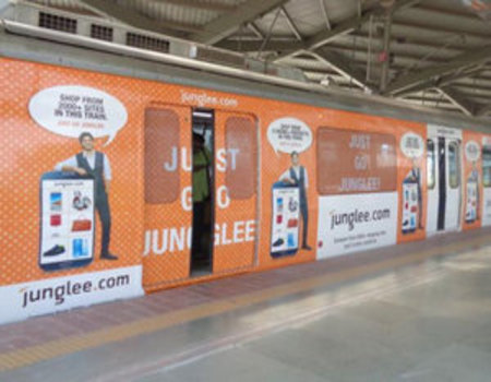 Metro Train - Delhi-Train Wrap Advertising-Option 1