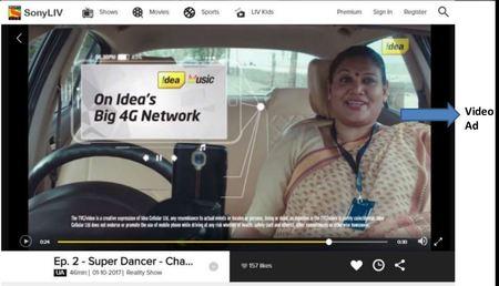 Advertising in Sony LIV, App - The Media Ant