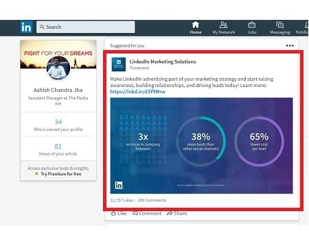 LinkedIn - Sponsored Content