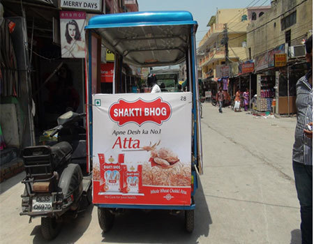 E - Rickshaw - Delhi  Advertising