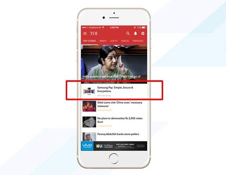 Times of India - Native Banner Advertising Option 1