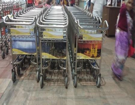 Jaipur Airport-Luggage Trolley Advertising-Option 1