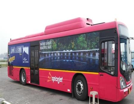 Jaipur Airport-Tarmac Coach - Exterior Advertising-
