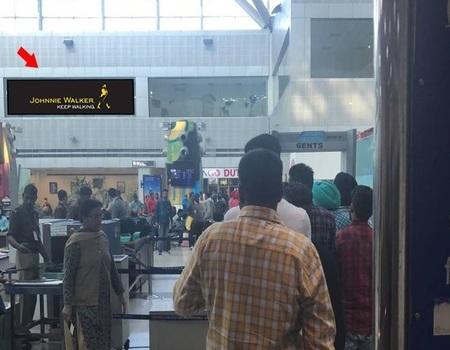 Back Lit Signage - International departure  - 30 x 6 ft