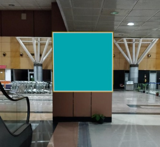 Arrival Area - Near to escalator end point  - 4 x 6 ft - Pillar Panel
