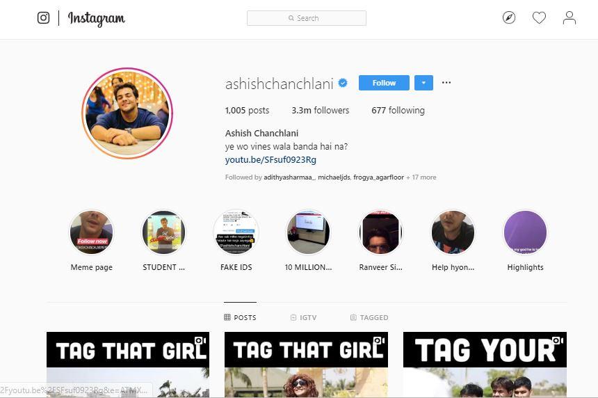 Ashish Chanchlani - Social Media Post Advertising Option 1