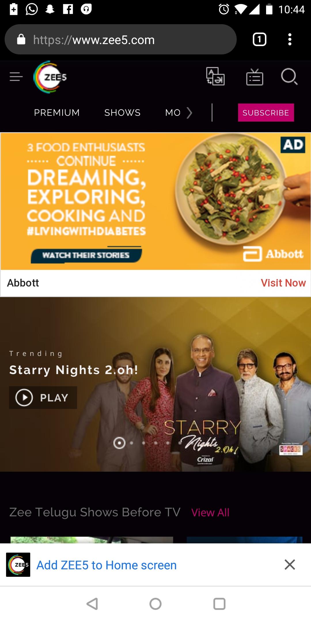 Zee5, App - Banner Advertising