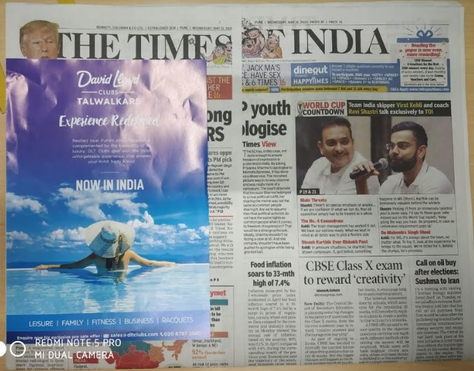 Pune Airport- Newspaper Stickers - Times Of India Advertising