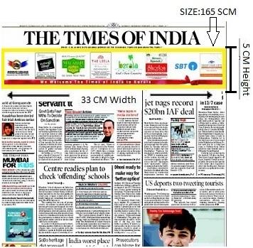 Times Of India, Mumbai, English Newspaper- Skybus Advertising- Option 1