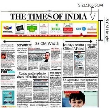 Times Of India, Bangalore Times, English Newspaper-Skybus Advertising-Option 1
