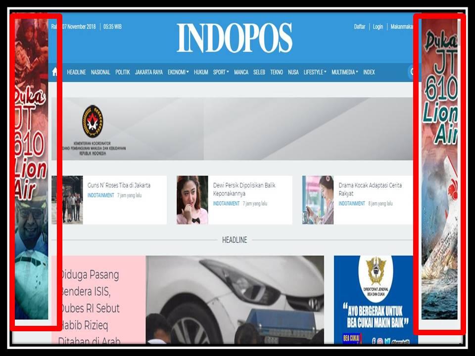Iklan Skyscraper di Indopos online