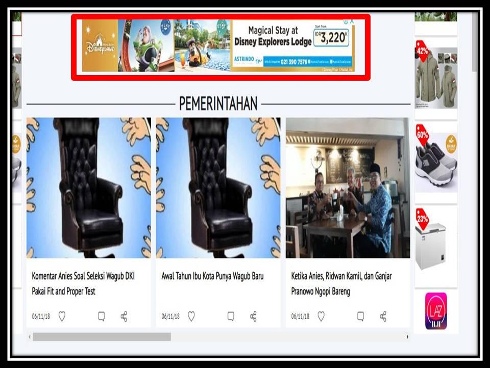 Iklan Leaderboard di Indopos online