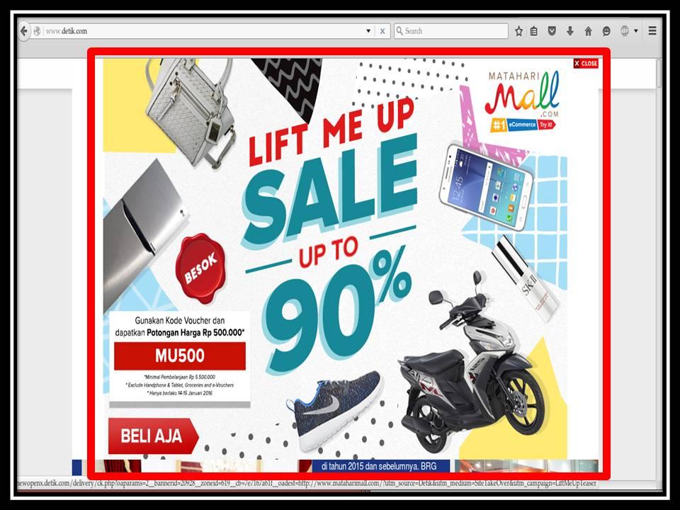 Iklan Popup di Indopos online