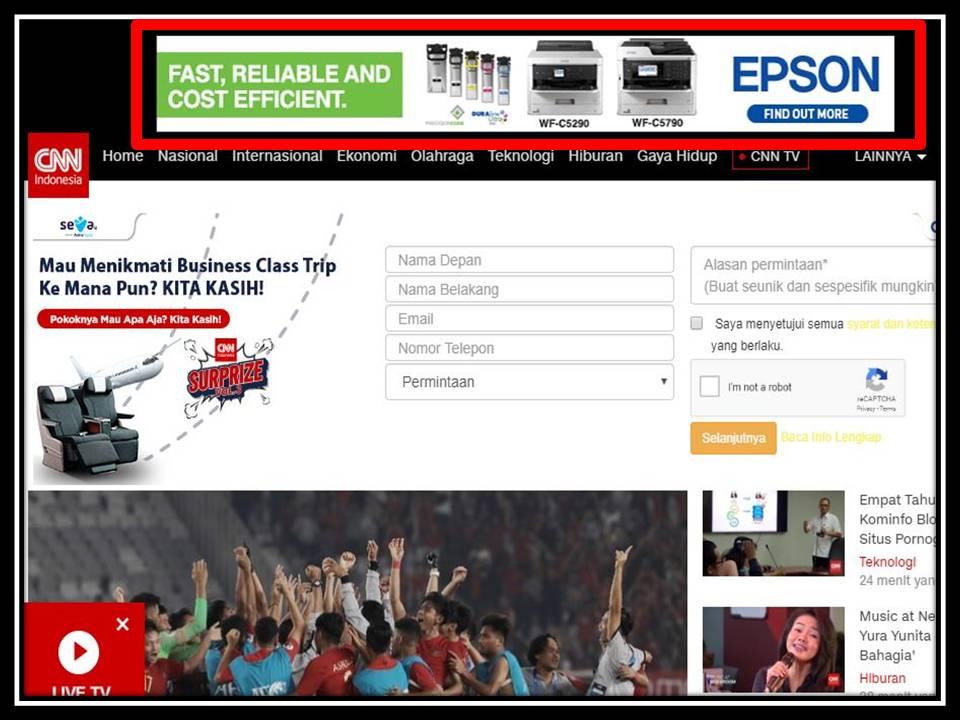 iklan Leaderboard di CNN Indonesia