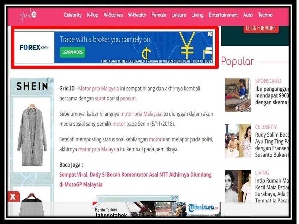 Iklan Leaderboard di Nova online
