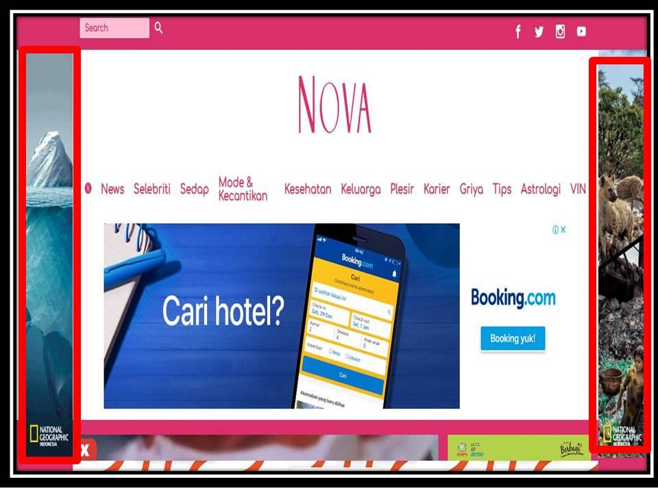 Iklan skinning banner di Nova online