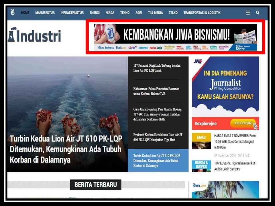 Iklan leaderboard di bisnis.com