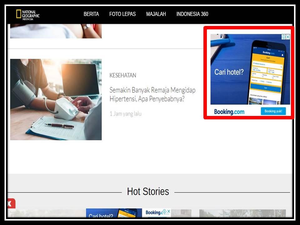 Iklan Medium rectangle banner di NGI online