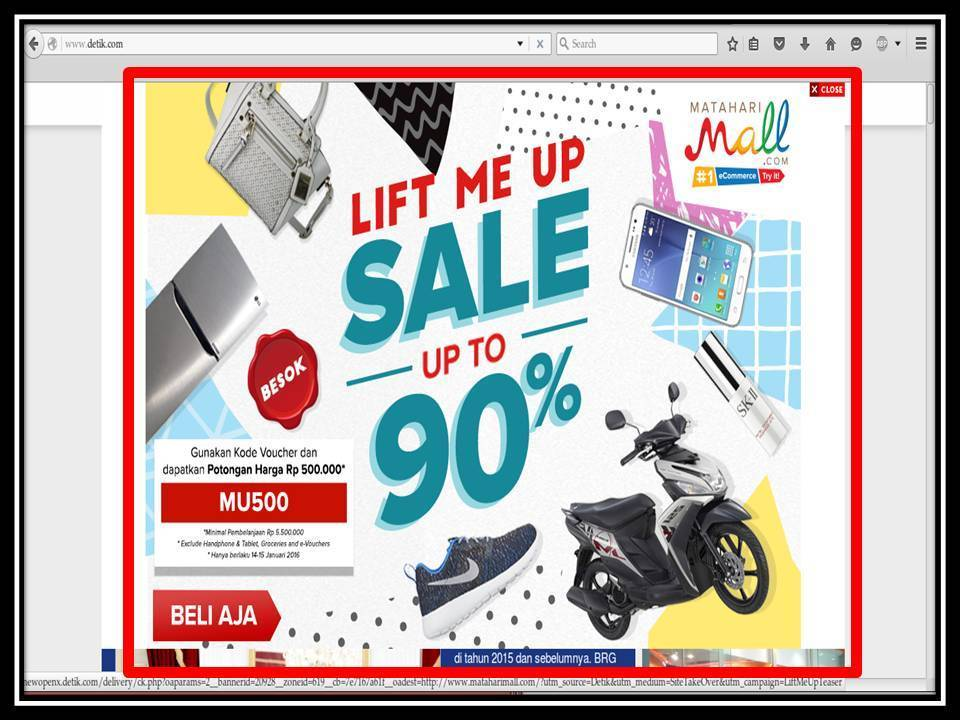 Iklan Pop-up di Tabloid Bintang