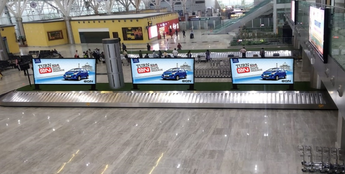 Arrival  - Digital Screen - Baggage Reclaim Area - 11 W x 3 H Ft - 6 Nos.