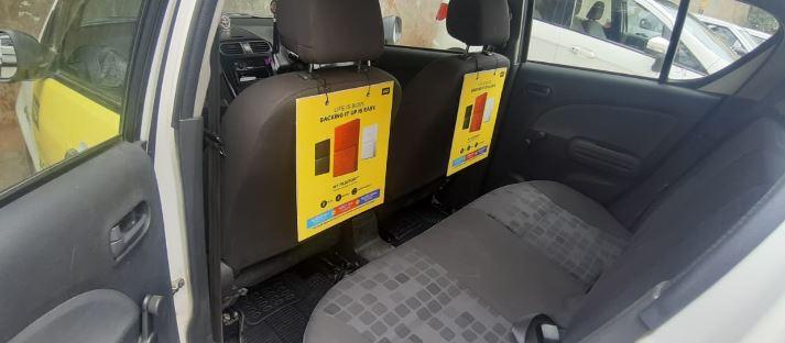 Cab - Bangalore - Internal - Seat Back Advertising Option 1