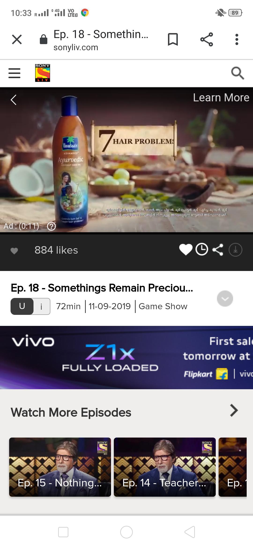 Sony LIV- Video Advertising