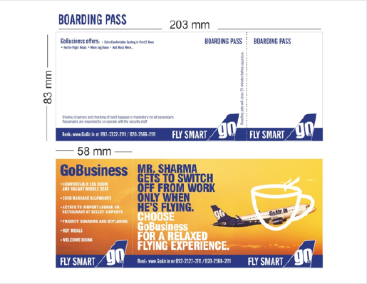 GoAir India Airlines-Boarding Pass  Advertising