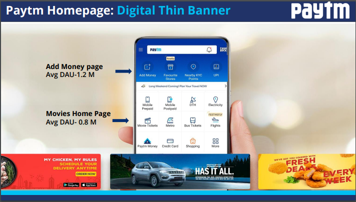 Paytm - Thin Banner Advertising