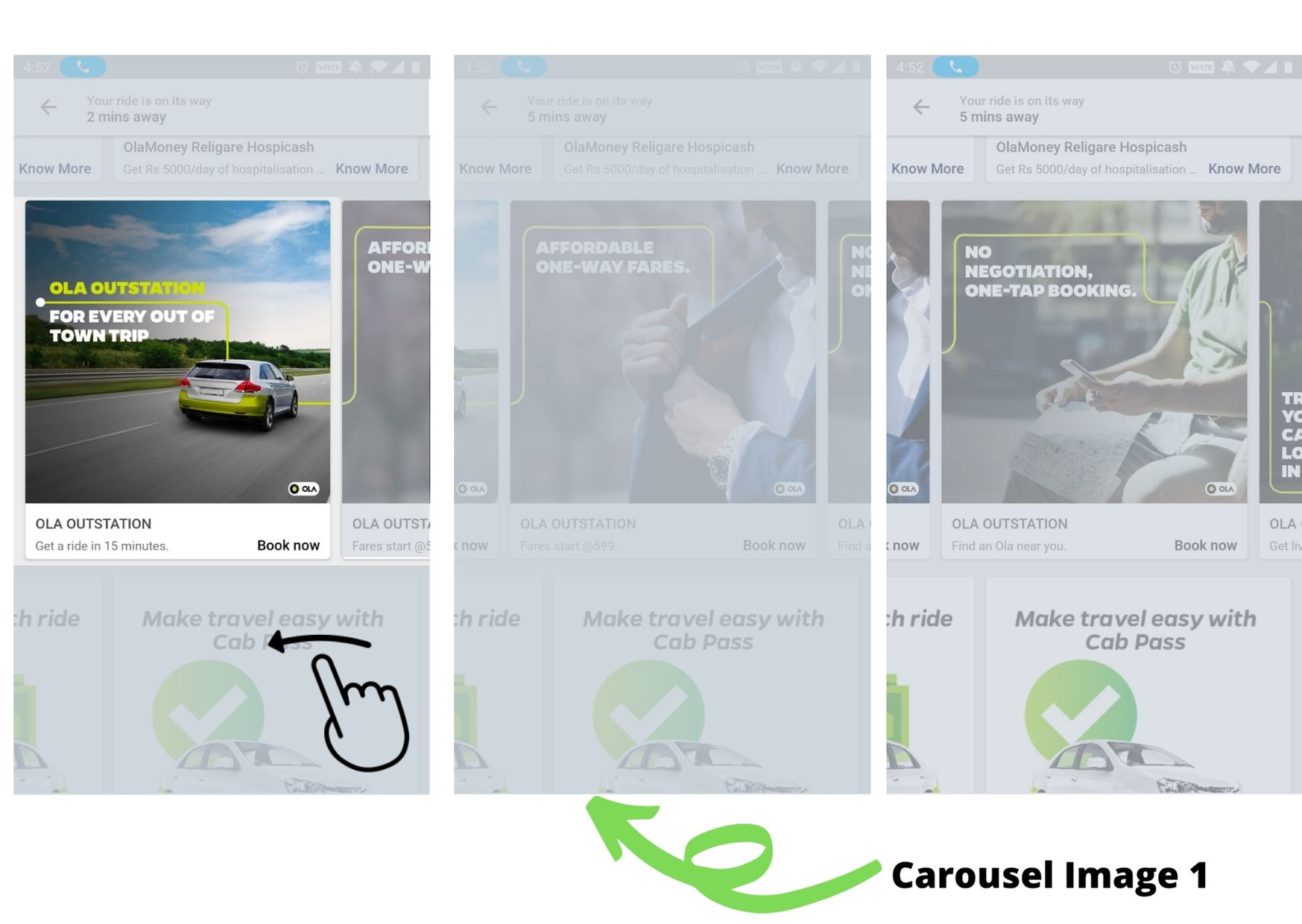 OLA, App Advertising Option 1