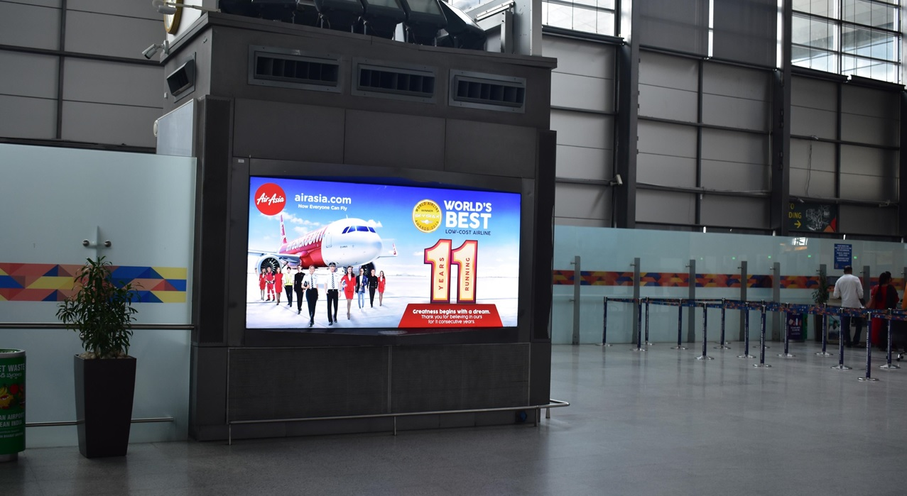 Hyderabad Airport- Departure Advertising-Back Lit Panel - 10 W x 5 H Ft - Security Hold Area