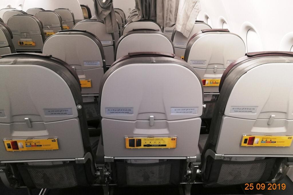 Vistara India Airlines-Seat Back Advertising