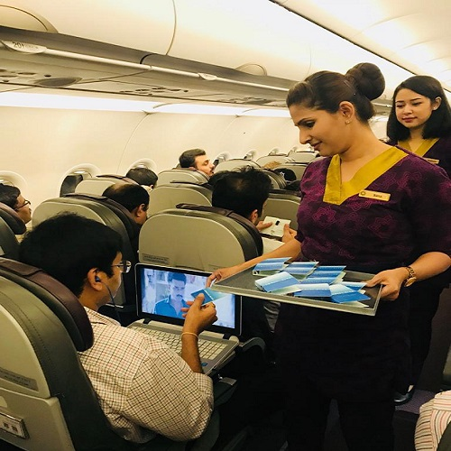 Vistara India Airlines-Inflight Sampling Advertising-Option 1