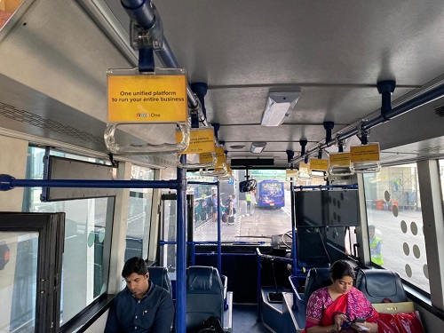 IndiGo Airlines Domestic-Bus Grab Handle Advertising-Option 1