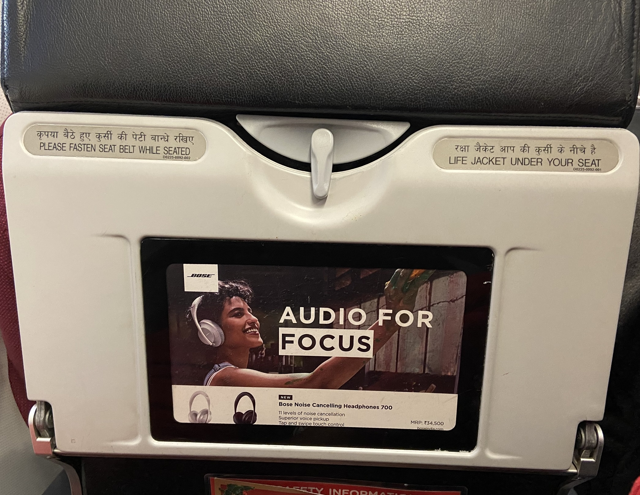 Air Asia India Airlines-Seat Back Branding-Option 1