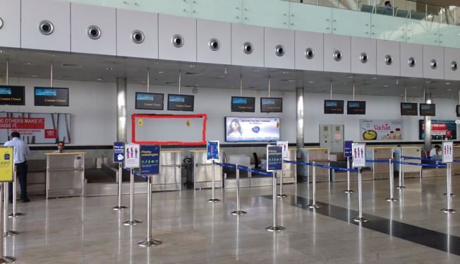 Departure - 10 x 4 Ft - Behind Check in Counter - Back Lit Panel