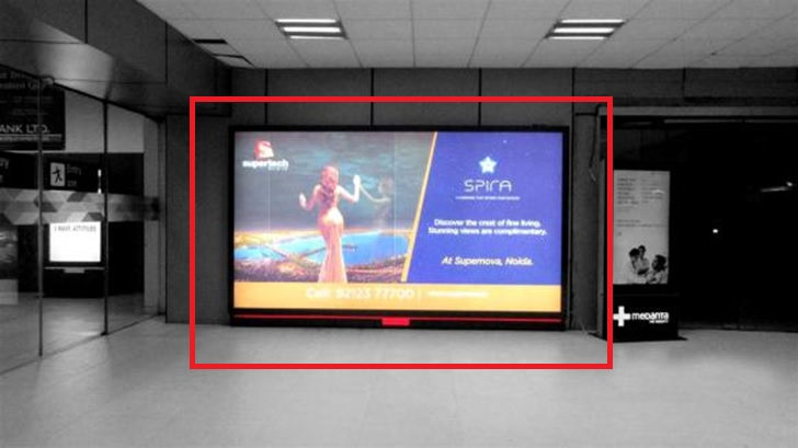 Delhi Airport-Arrival Area Advertising-Terminal 1 C Arrivals - 12 x 6 Ft - Back Lit