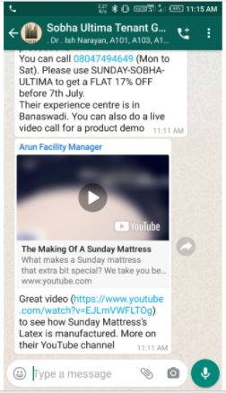 Apartments - Bangalore-Whatsapp Advertising-Option 1