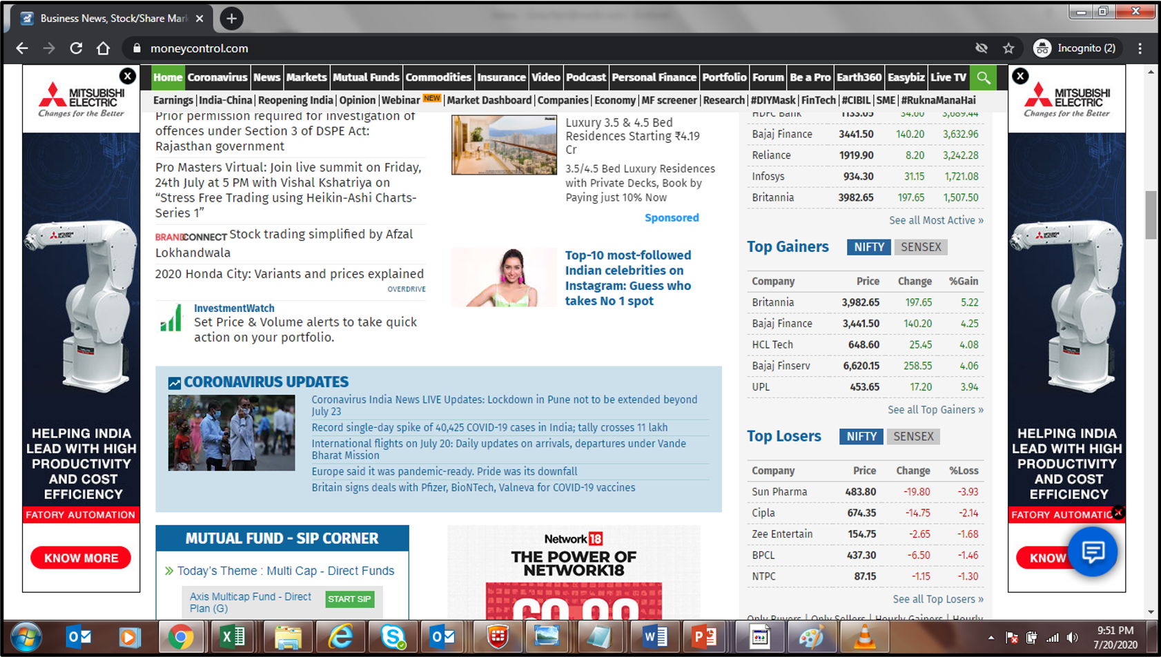 Money Control-Article Advertising-Option 1