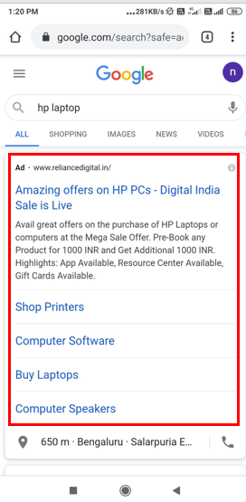 Google Search- Dynamic Search Advertising-Option 1