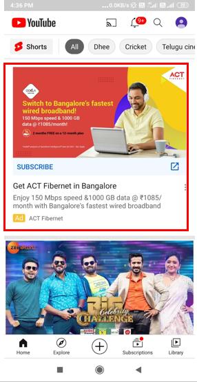 Youtube-Banner Advertising