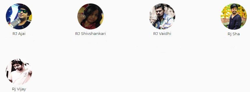 Radio Mirchi Chennai Advertising Top RJ List