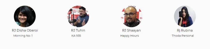 Red FM Bangalore Advertising Top RJ List