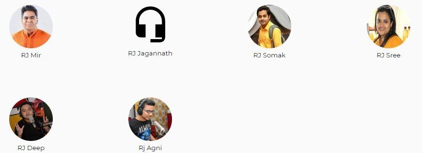 Radio Mirchi Kolkata Advertising Top RJ List