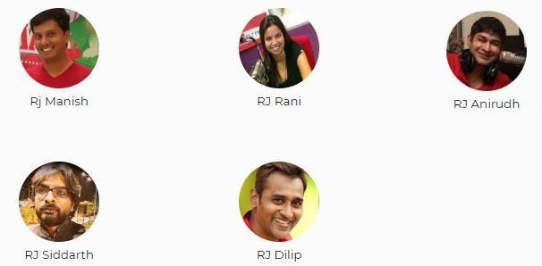 Big FM Mumbai Advertising Top RJ List