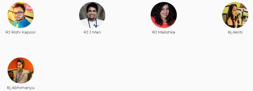 Red FM Mumbai Advertising Top RJ List